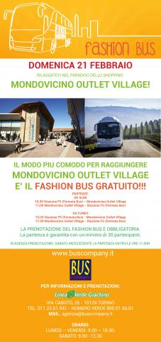Mondovicino Outlet Village con il Fashion Bus! – Bus Company
